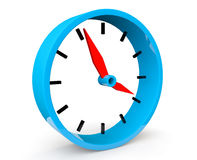 Icon of blue abstract clock. On a white background Stock Photo