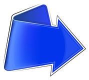Icon with blue arrow Royalty Free Stock Images