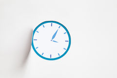 Icon blue clock Stock Photo
