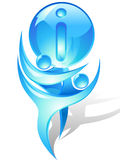 Icon with blue dancers and ball royalty free illustration