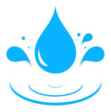 Icon with blue water drop Royalty Free Stock Images