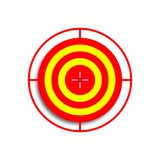 Icon board for archery yellow and red vector illustration