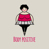 Icon of body positive Royalty Free Stock Images