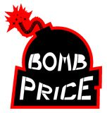 Icon bomb price Royalty Free Stock Photography