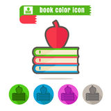 Icon book color on white background Royalty Free Stock Images