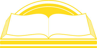 Icon with book and sunrise Royalty Free Stock Photography