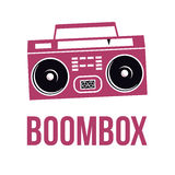 Icon Boombox. Vector  image of the tape recorder. Royalty Free Stock Photography