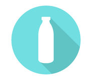 Icon bottle of milk illustrated Royalty Free Stock Image