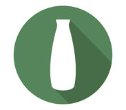 Icon bottle of milk illustrated Royalty Free Stock Images