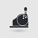 Icon bowling. Checkout Counter. Cashier bowling club.. Pictogram pointer. Stock Photos