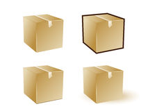 Icon box. Vector icon cardboard box on white background Royalty Free Stock Photography
