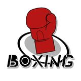 Icon boxing Royalty Free Stock Images