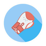 Icon boxing gloves. Boxing gloves. Single flat color icon. Vector illustration Royalty Free Stock Images