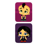 Icon boy and girl gothic. Characters Stock Illustration