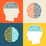 The icon of the brain. Stock Photo
