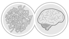 Icon brain Stock Photo