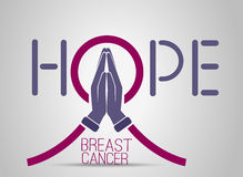 Icon breast cancer Stock Photo