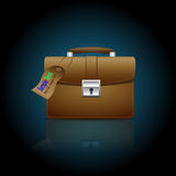 Icon of the briefcase Royalty Free Stock Images
