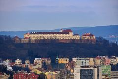 The icon of the Brno city`s castles Spilberk. Czech Republic- Europe Stock Images
