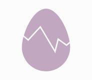 Icon broken egg illustrated Royalty Free Stock Photos