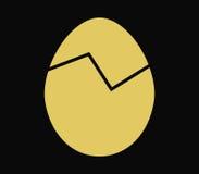 Icon broken egg illustrated Stock Image