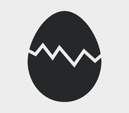 Icon broken egg illustrated Royalty Free Stock Images