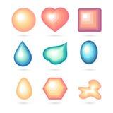 Icon bubbles set. 3d icon bubbles set. Vector illustration Stock Photography