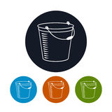 Icon bucket , vector illustration Stock Photography