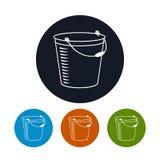 Icon bucket , vector illustration Stock Photography