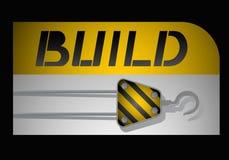 Icon build. Creative design of icon build royalty free illustration
