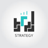 Icon of building blocks. Logic, analysis, strategy concept. Black and green flat pictograph for websites, mobile apps, games, buttons and other design needs Royalty Free Stock Photo