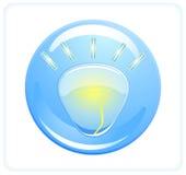 Icon bulb Royalty Free Stock Photo