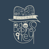 Icon Business Key Success Concept Royalty Free Stock Photography