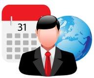 Icon business man Stock Photo