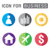 Icon for Business set isolated on white background. Royalty Free Stock Image