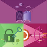 Icon Business Vector Set Colorful Concept royalty free illustration