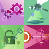 Icon Business Vector Set Colorful Concept stock illustration