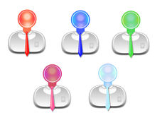 Icon businessman. In different colors Stock Images