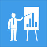 Icon of businessman Royalty Free Stock Images