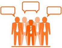 Icon with businessmans team Royalty Free Stock Photography