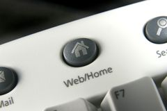 Icon button. Web/Home icon button on keyboard Stock Images