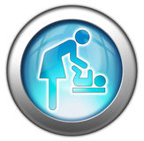 Icon/Button/Pictogram Baby Change. Icon/Button/Pictogram for Baby Change Royalty Free Stock Photo