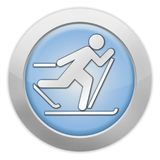 Icon, Button, Pictogram Cross-Country Skiing. Icon, Button, Pictogram with Cross-Country Skiing symbol Royalty Free Stock Image