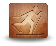 Icon, Button, Pictogram Cross-Country Skiing. Icon, Button, Pictogram with Cross-Country Skiing symbol Stock Images