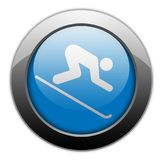 Icon, Button, Pictogram Downhill Skiing. Icon, Button, Pictogram with Downhill Skiing symbol Royalty Free Stock Photography
