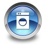 Icon, Button, Pictogram Laundromat. Icon, Button, Pictogram with Laundromat symbol stock illustration