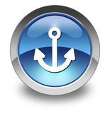 Icon, Button, Pictogram Marina. Icon, Button, Pictogram with Marina symbol Royalty Free Stock Images