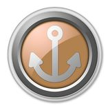 Icon, Button, Pictogram Marina. Icon, Button, Pictogram with Marina symbol Stock Images