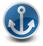 Icon, Button, Pictogram Marina. Icon, Button, Pictogram with Marina symbol Stock Photo
