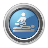 Icon, Button, Pictogram Physical Therapy. Icon, Button, Pictogram with Physical Therapy symbol Stock Image